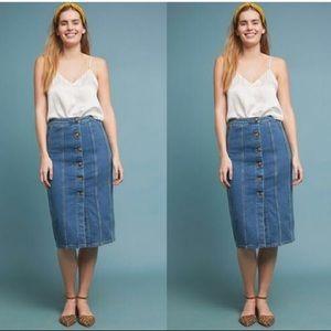 NWOT Anthropologie Pilcro Denim Pencil Skirt